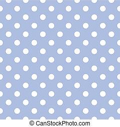 point, arrière-plan bleu, vecteur, polka