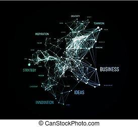 point, concept, vecteur, géométrique, plexud, solution, business, ligne, nuage, étiquette, connection., données, fond, grand, mot
