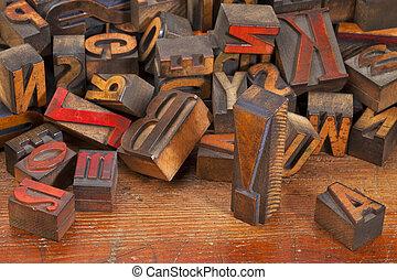 point, letterpress, exclamation, blocs, impression