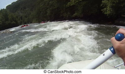 point, rivière, rafting:, vue
