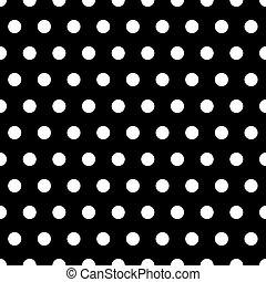 points, blanc, arrière-plan noir