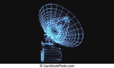 points, lignes, lumineux, télescope, radio