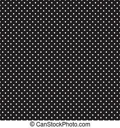 points, noir, seamless, polka, blanc