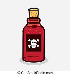 poison, bouteille