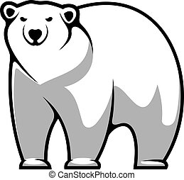 polaire, dessin animé, ours