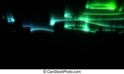 polaire, lumières, seamless, ou, aurore, isolé, nord, black.