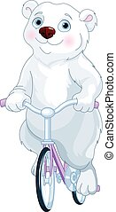 polaire, vélo, ours, équitation