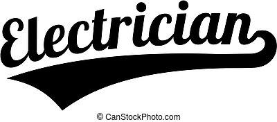 police, électricien, retro