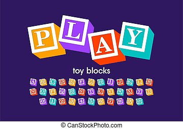police, blocs, jouet
