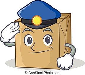 police, carton, caractère, collection