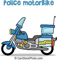 police, collection, transport, moto