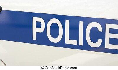 police, détail, voiture