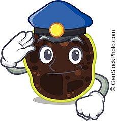 police, dessin animé, chapeau, dessin, porter, firmicutes, bleu, officier