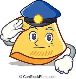 police, fortune, dessin animé, petit gâteau, caractère
