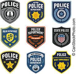 police, pièces