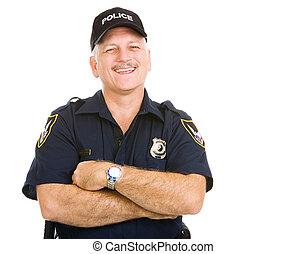 police, rire, officier