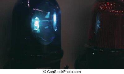 police, tourner, lumière