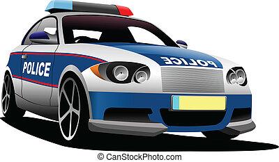 police, transport., voiture., ve, municipal