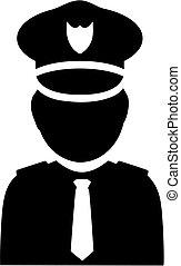 policier, icône, pictogramme