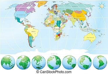 politique, carte, mondiale