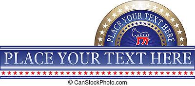 politique, démocrate, étiquette