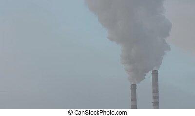 pollution, fumée, air