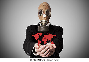 pollution, ou, global, concept, pandémie