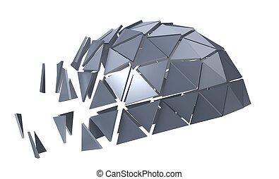 polyèdre, métallique
