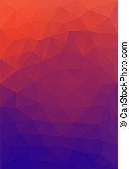poly, forme, bas, fond, triangulaire