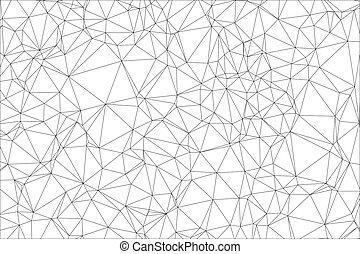 polygon., blanc, arrière-plan noir
