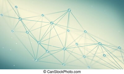 polygone, forme, techno, boucle, fond, futuriste