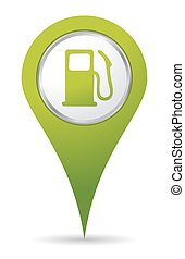 pompe, essence, emplacement, icône