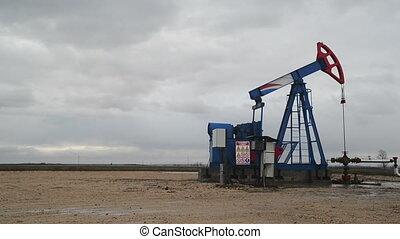 pompe, pumpjack, huile