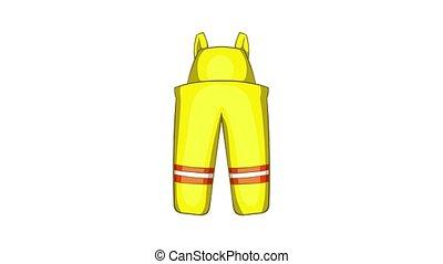 pompier, animation, déguisement, icône