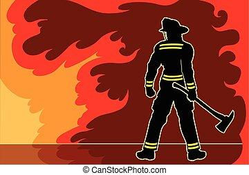 pompier, entretoise