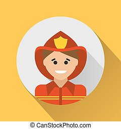 pompier, icône