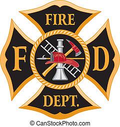 pompiers, croix maltaise