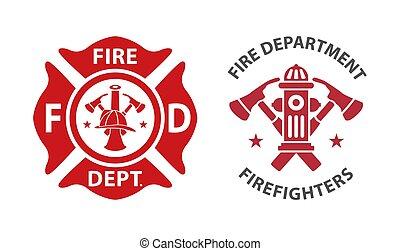 pompiers, logo