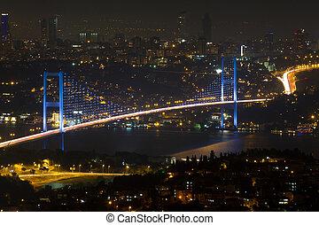 pont, bosphore, colline, istanbul, camlica