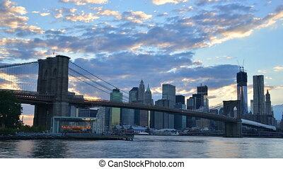pont, brooklyn, york, nouveau, ville