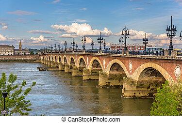 pont, de, -, pierre, aquitaine, bordeaux, france