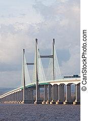 pont, envergure, centre, royaume-uni, severn, nouveau