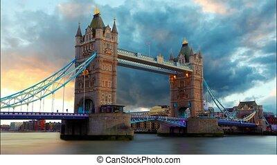 pont, la, royaume-uni, temps, tour, londres