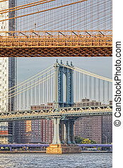pont, pylône, nouveau, manhattan, york