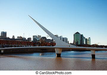 pont, santiago, mujer, la, de, puente, conçu, buenos, argentine, femmes, calatrava, aires