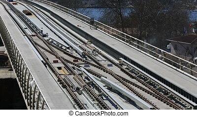 pont, station, train, métro, 10