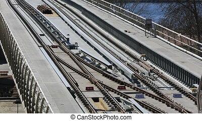 pont, station, train, métro, 8