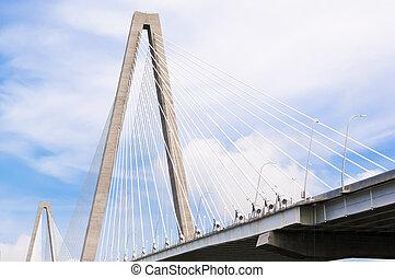 pont, tonnelier, sur, jr, arthur, charleston, rivière, ravenel