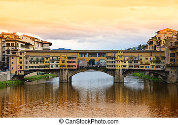 pont vecchio, italie, florence, ponte