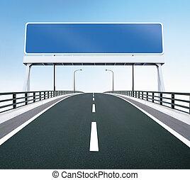 pont, vide, signe route